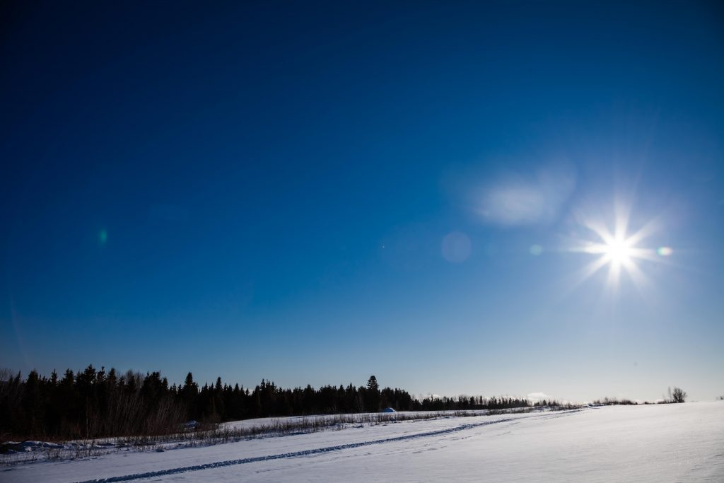 Solar power in winter