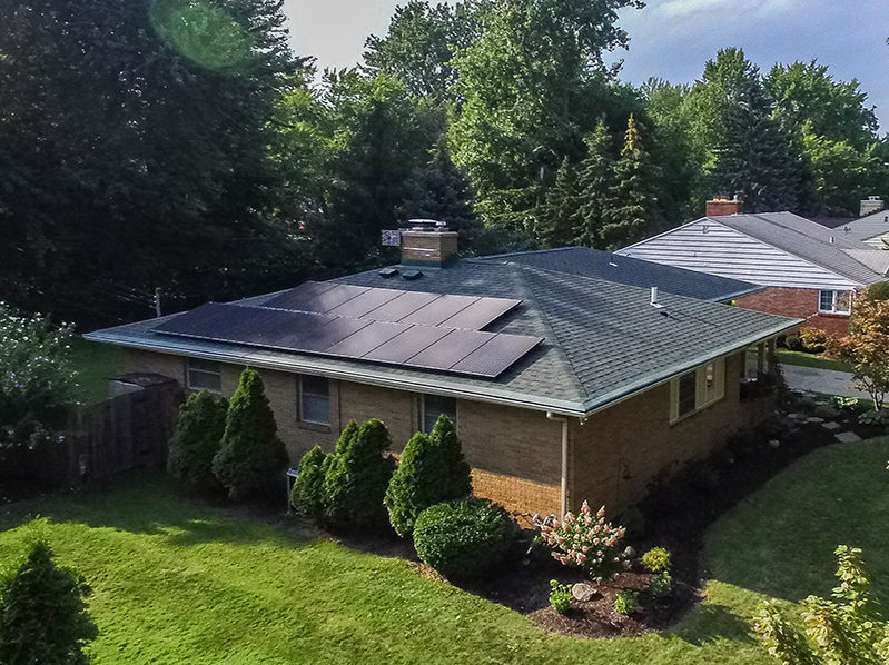 Residential Solar Install, Parkwood Drive