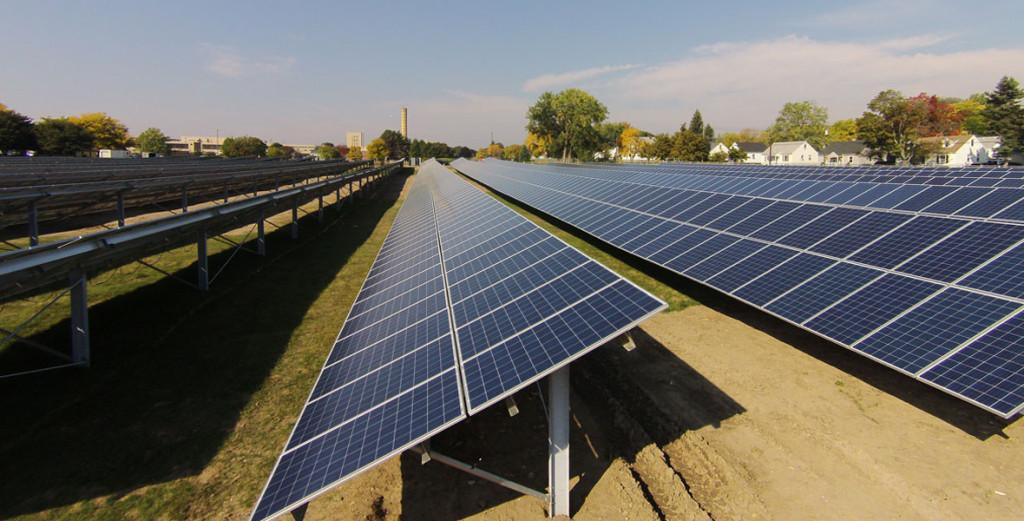 Solar array in Rochester, NY