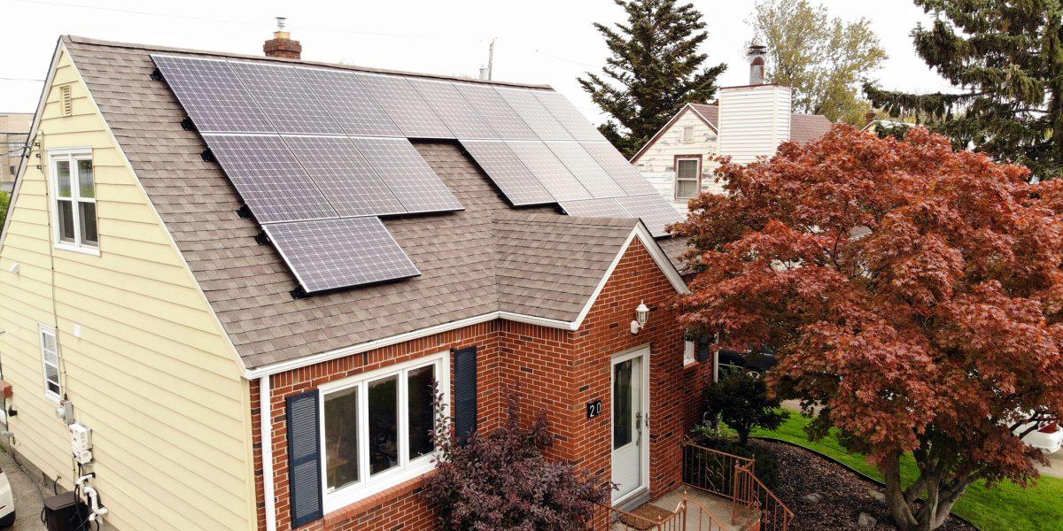 buffalo ny solar installation with panasonic panels