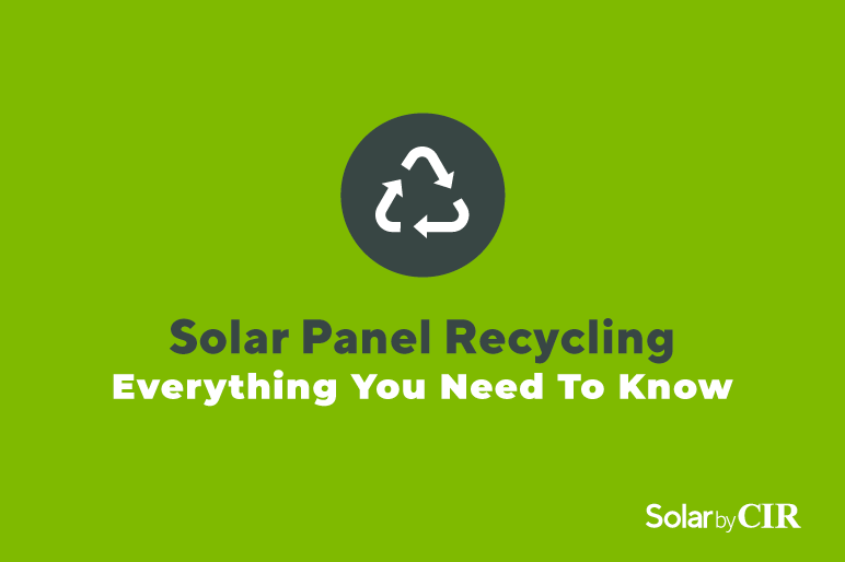 solar panel recycling graphic