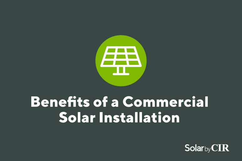 benefits of a commercial solar installation graphic